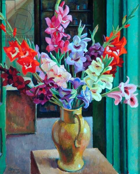 Gladioli, 1930 (oil on canvas)