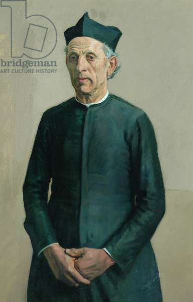 Village Priest (oil on canvas)