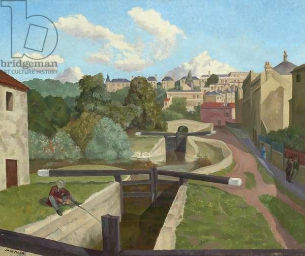 The Old Canal, Bath (oil on canvas)