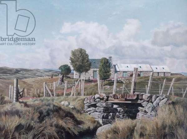 Croft on Dava Moor, 1938 (oil on canvas)