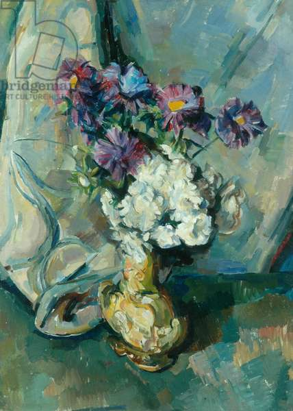 Blue and White Asters, 1952 (oil on canvas)