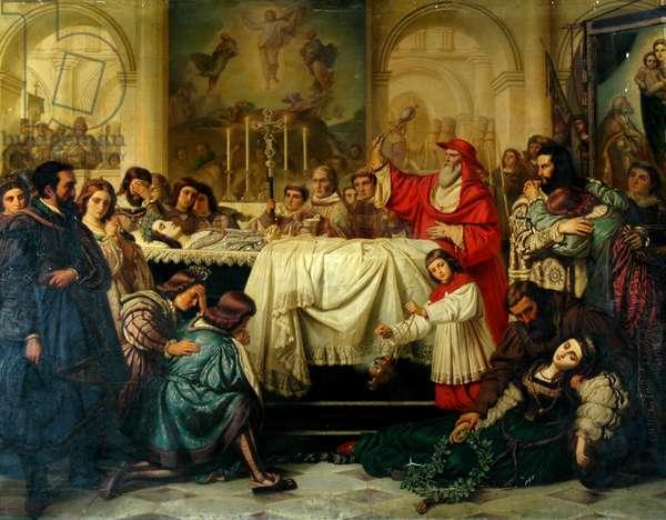 Death of Raphael (oil on canvas)