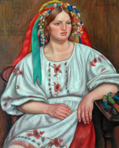 Russian Peasant Girl, 1926 (oil on canvas)