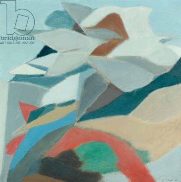 Veiled Mountain, 1964 (oil on canvas)