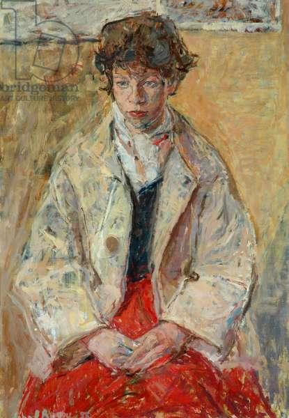 Janet, 1955 (oil on board)