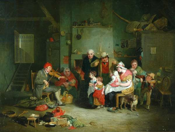 The Blind Fiddler (oil on canvas)