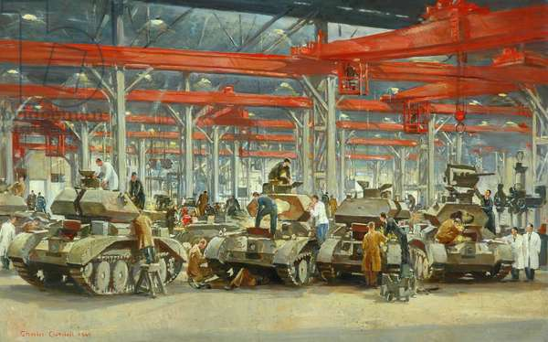 Tank Manufacture, 1940 (oil on canvas)