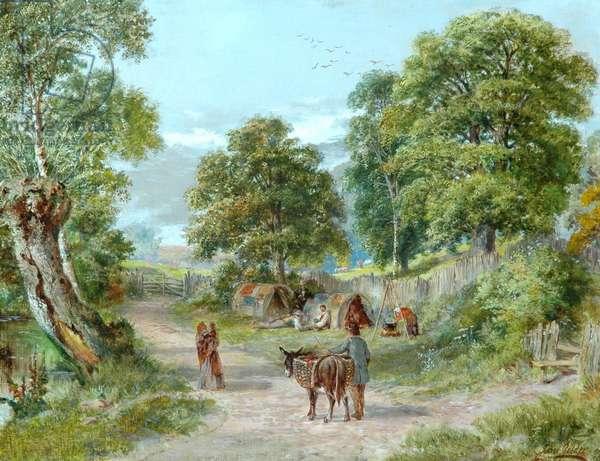 The Gypsies' Encampment (oil on canvas)