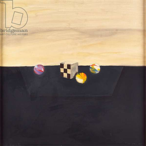 Still life with Chequered Box, 1974 (oil on canvas)
