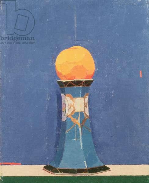 Peach on a Blue Vase, 1976 (oil on canvas)