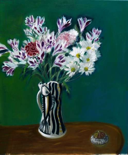 Alstromeria in a Pittenween Jug, 2010 (oil on canvas)