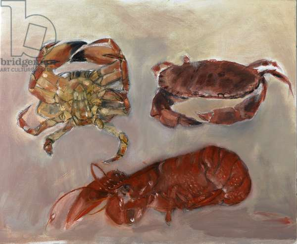 Crabs and Lobster, 2010 (oil on canvas)