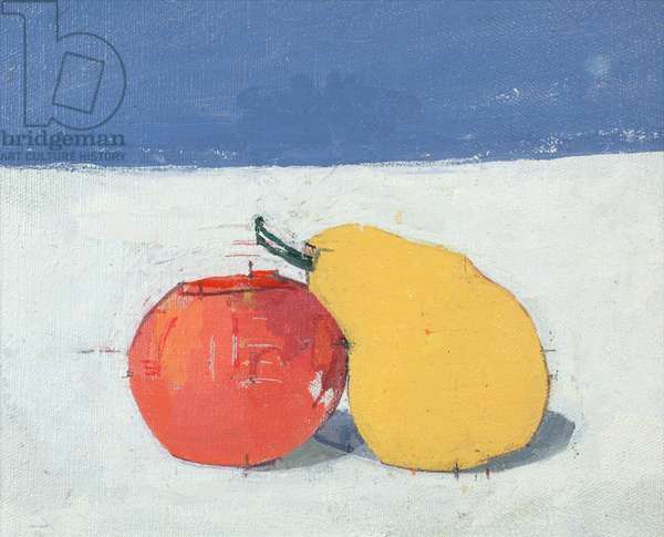 Apple and Pear, 1985 (oil on canvas)