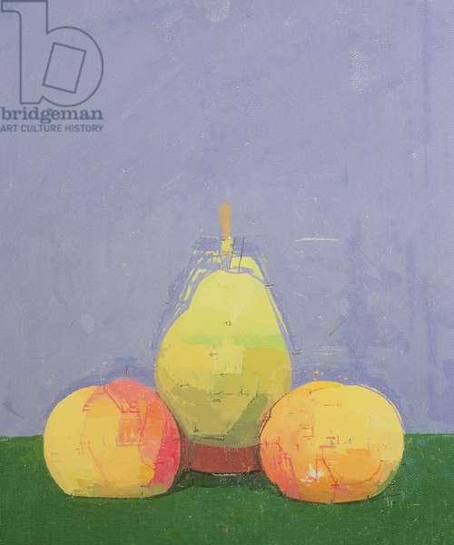 Fruit Pyramid, 1988 (oil on canvas)