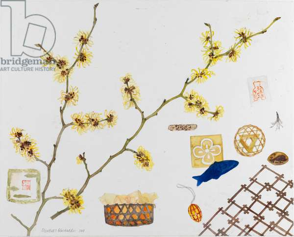 Japanese Still Life with Hamamelis, 2010 (w/c on paper)
