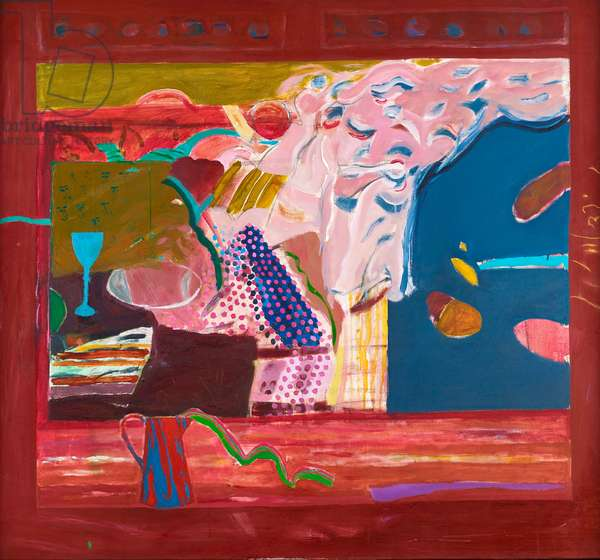 Still life with silk scarf, 1968 (oil on canvas)