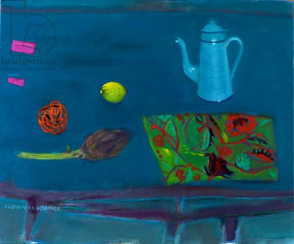 Coffee Pot and Artichoke, 2010 (oil on canvas)