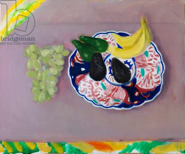 Fruit on a Japanese Plate, 2010 (oil on canvas)