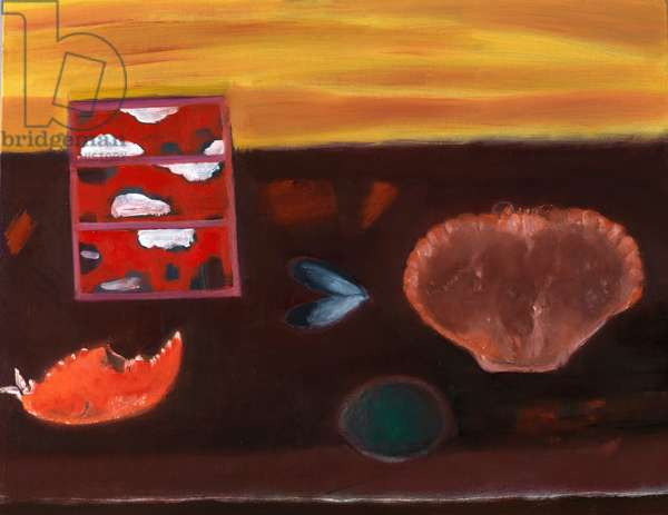 Crab and Japanese Box, 2010 (oil on canvas)