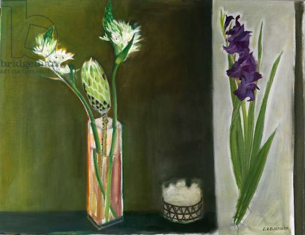 Gladiolus and Proteus, 2008 (oil on canvas)