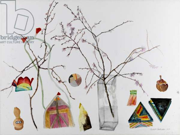 Still Life with Almond Blossom, 2010 (w/c on paper)