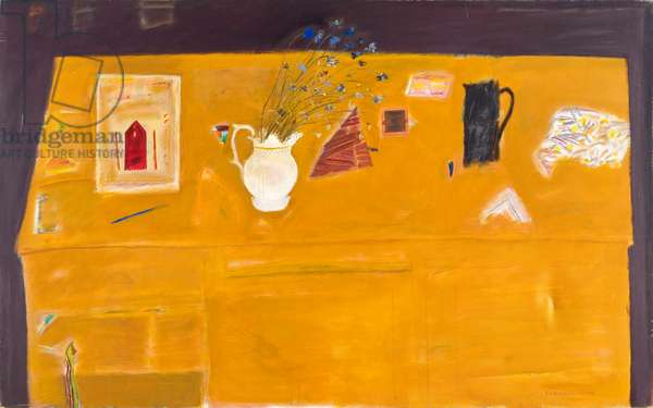 The yellow table, 1976 (oil on canvas)