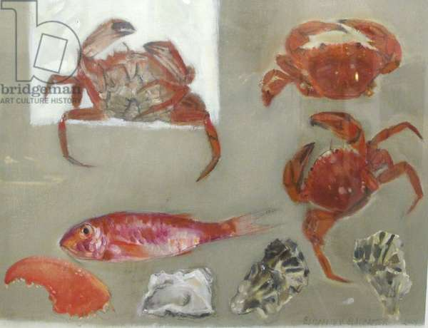 Crab, Fish & Oyster, 2009 (oil on canvas)
