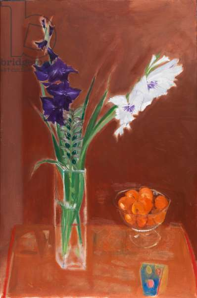 Gladioli and Oranges, 2010 (oil on canvas)