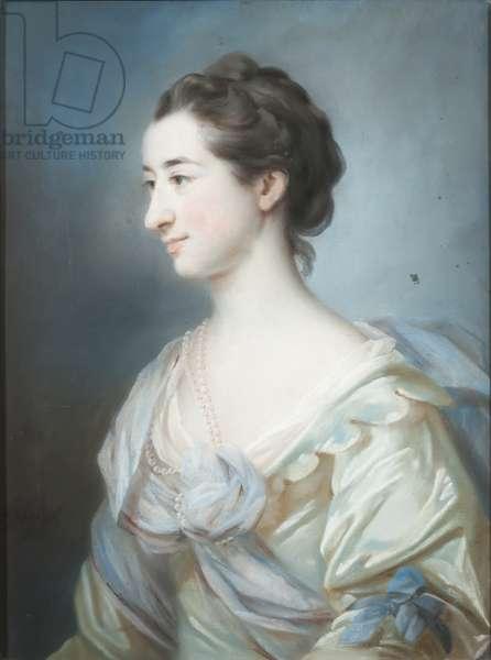 Portrait of Elizabeth Thornton, 1755 (pastel on paper)