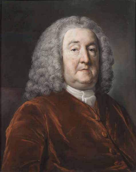 Portrait of Sir Edward Hulse, 1st Baronet, 1757 (pastel on paper)