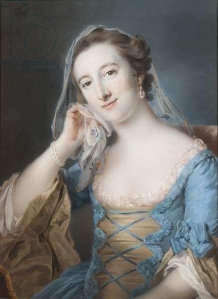 Portrait of Elizabeth, daughter of Sir Edward Hulse, 1st Baronet, 1755 (pastel on paper)