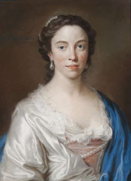 Portrait of Mary Thornton (pastel on paper)