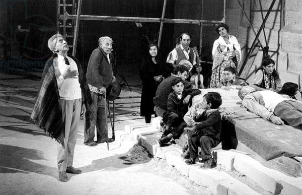 Jean Cocteau on set of film