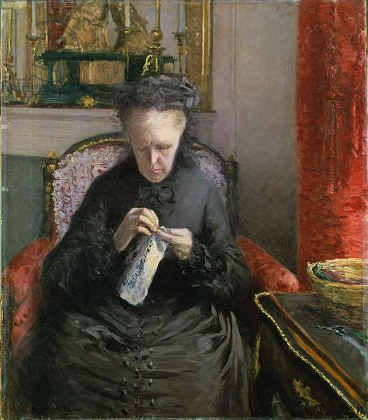 Madame Martial Caillebotte, 1877 (oil on canvas)