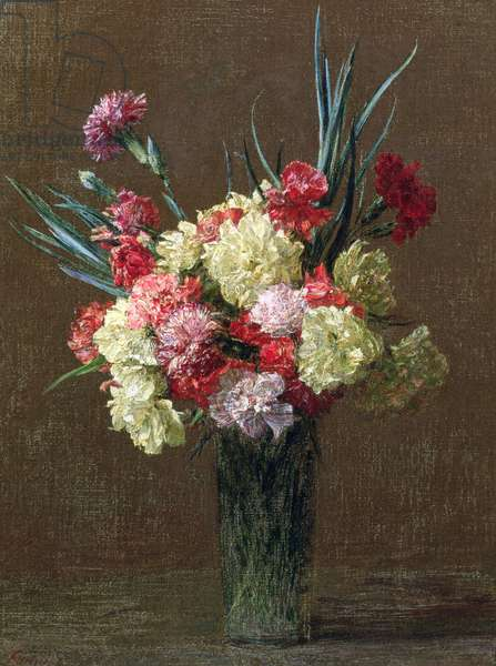 Carnations (oil on canvas)