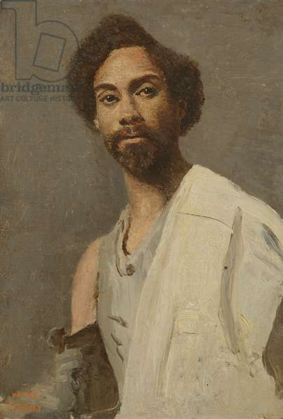 Portrait of an Abyssinian man (oil on canvas)