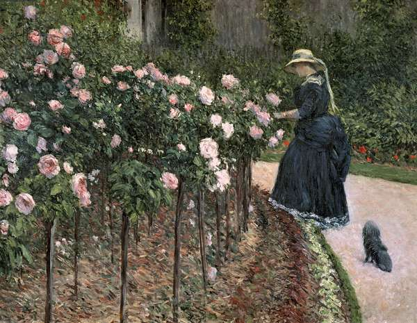 Roses in the Garden at Petit Gennevilliers, 1886 (oil on canvas)