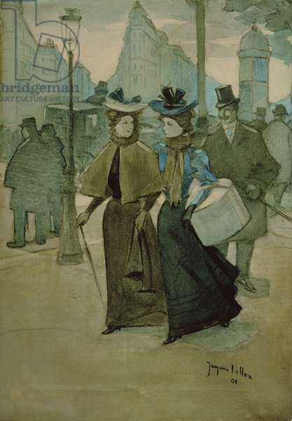 Les Grands Boulevards, 1901 (oil on canvas)