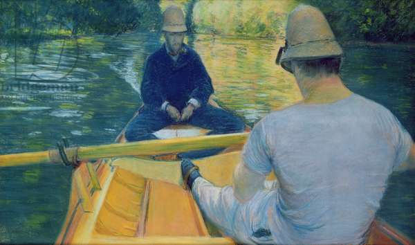 Boaters on the Yerres (oil on canvas)