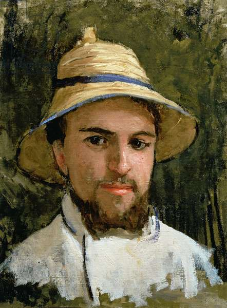 Self Portrait with Pith Helmet (oil on canvas)