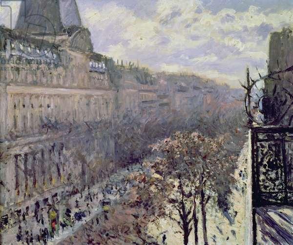 Boulevard des Italiens, c.1880 (oil on canvas)