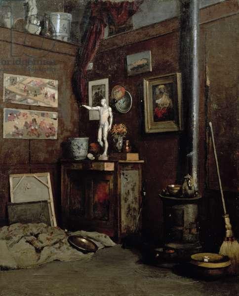 Interior of a Studio, c.1872-74 (oil on canvas)