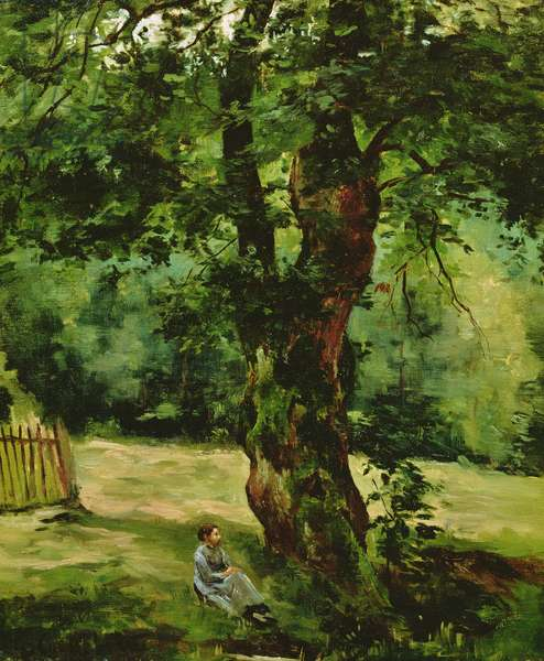 Woman Seated Beneath a Tree (oil on canvas)