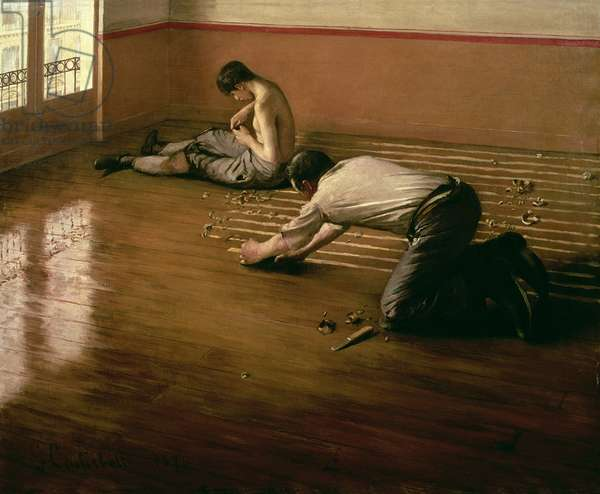 The Parquet Planers, 1876 (oil on canvas) (small version)