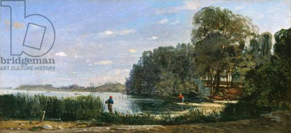 The Banks of the Seine at St.-Ouen, 1865 (oil on canvas)