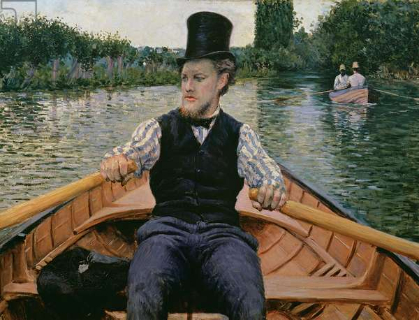 Rower in a Top Hat, c.1877-78 (oil on canvas)