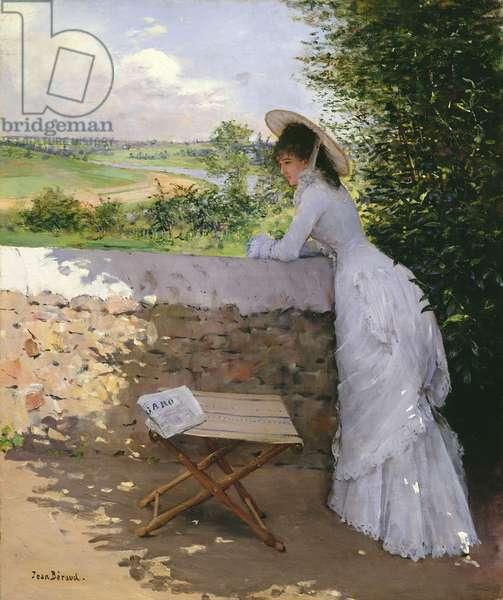Un Figaro de Reve (oil on canvas)