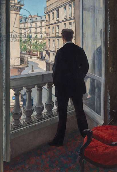 Man at the Window. 1875 (oil on canvas)