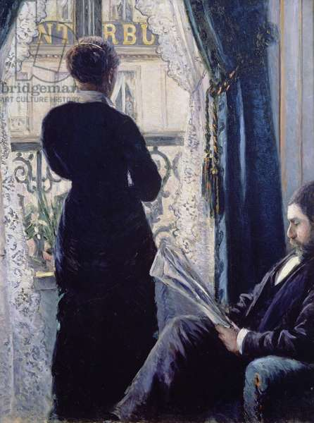 Interior, Woman at the Window, 1880 (oil on canvas)