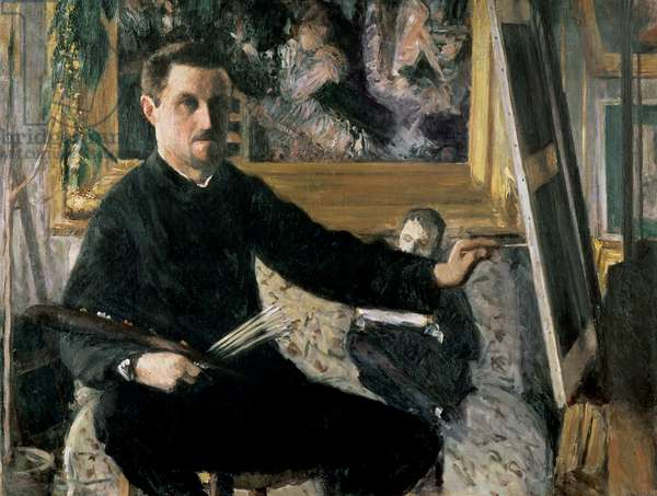 Self Portrait with an Easel, c.1879 (oil on canvas)